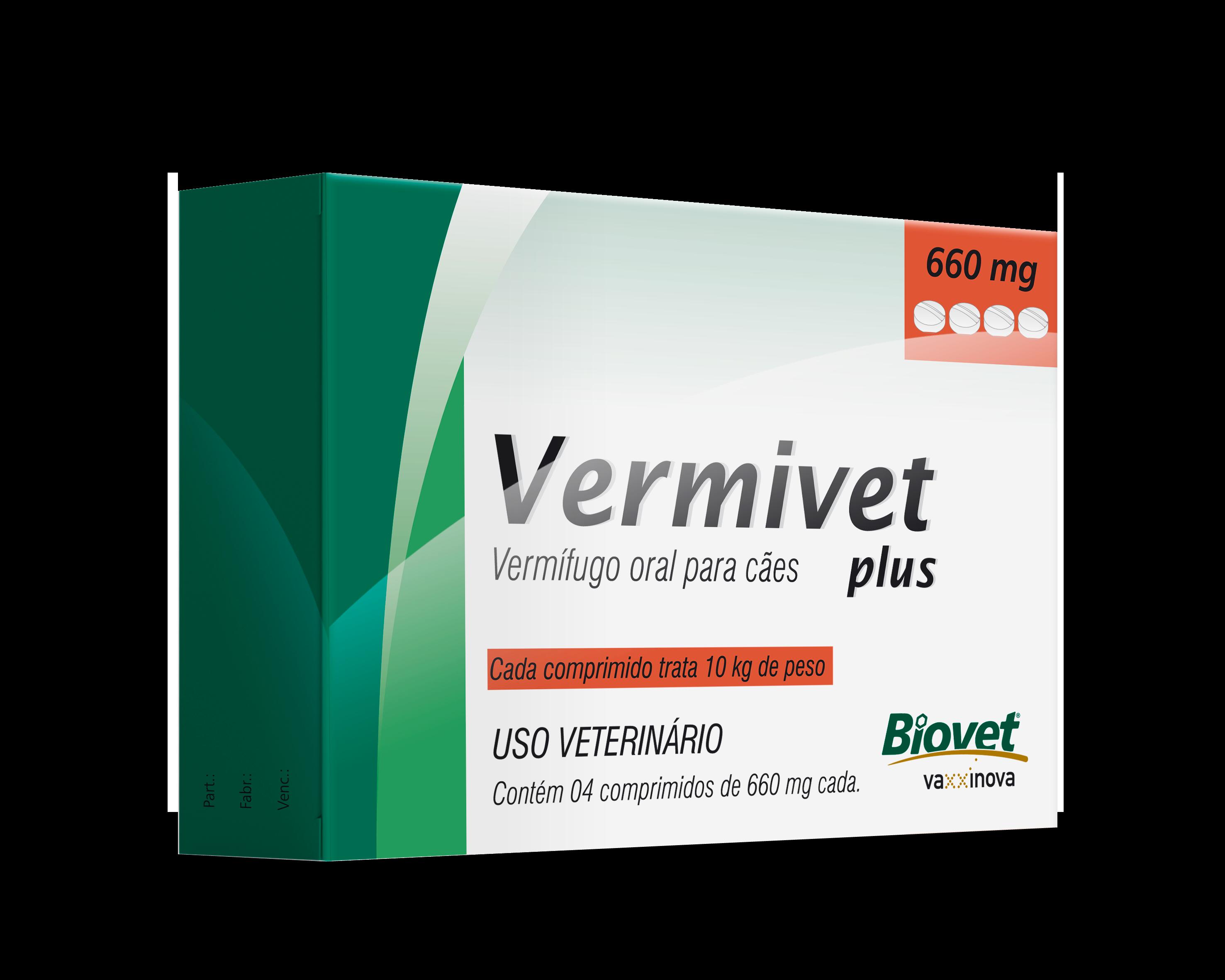 Imagem referente ao produto Vermivet Plus 660 mg
